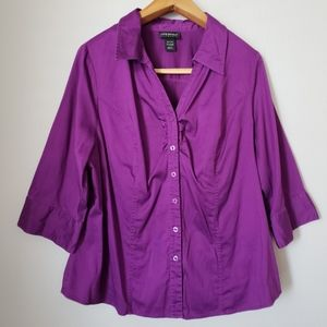 Lane Bryant purple button down shirt 18/20W